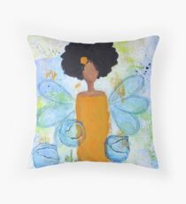 Sistah Stand Angel, African American Throw Pillow