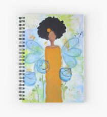 Sistah Stand Angel, African American Spiral Notebook