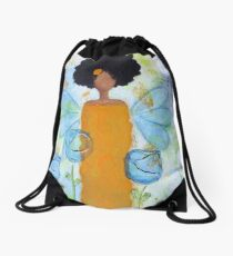 Sistah Stand Angel, African American Drawstring Bag