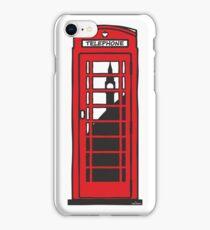 Red telephone box iPhone Case/Skin