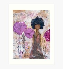 Let Your Light Shine, African American, Latina Art Print