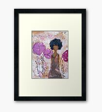 Let Your Light Shine, African American, Latina Framed Print