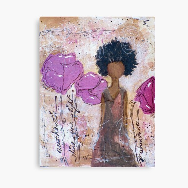Let Your Light Shine, African American, Latina Canvas Print