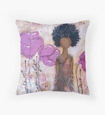 Let Your Light Shine, African American, Latina Throw Pillow