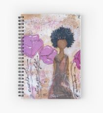 Let Your Light Shine, African American, Latina Spiral Notebook