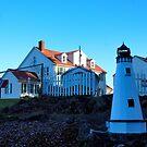 Mini Lighthouse/Oregon by Richard Bozarth