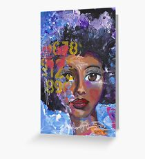 Fearless Girl, African American, Latina Greeting Card