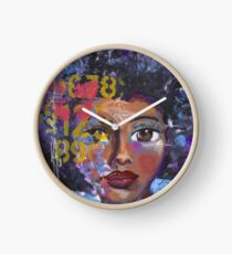 Fearless Girl, African American, Latina Clock