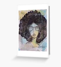 Dope Girl Art Greeting Card