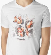 Squirrels, forest animals, watercolor & ink sketch T-Shirt
