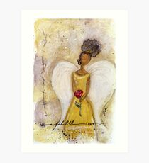 Angel of Peace 2, African American, Black Angels, Latina Art Print
