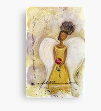 Angel of Peace 2, African American, Black Angels, Latina Canvas Print
