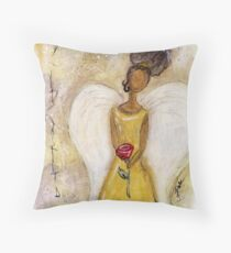 Angel of Peace 2, African American, Black Angels, Latina Throw Pillow