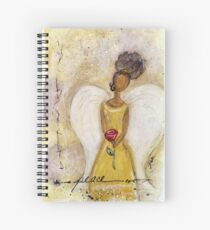 Angel of Peace 2, African American, Black Angels, Latina Spiral Notebook