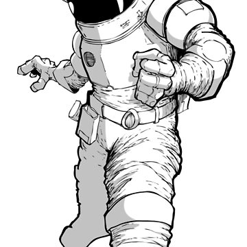 BW Astronaut Suit by doodlebags