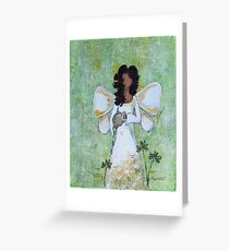 Angel of Abundance, African American, Angel, Black Angels, Latina Greeting Card