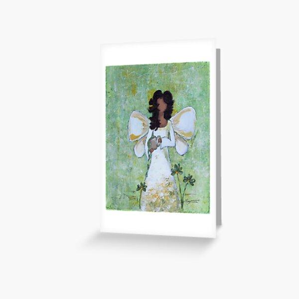 Angel of Abundance, African American, Angel, Black Angels, Latina Greeting Card