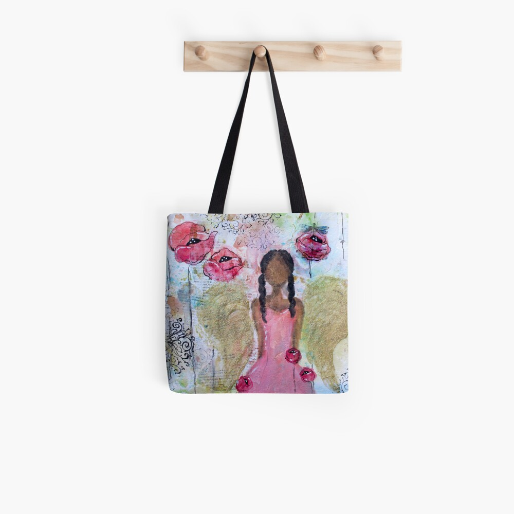 Angel of Growth, Black Angel, African American, Latina Tote Bag