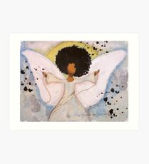 Boundless Angel, African American, Latina, Black Angel Art Print