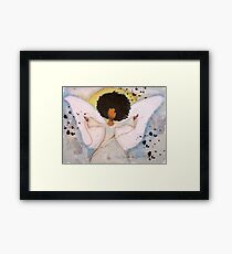 Boundless Angel, African American, Latina, Black Angel Framed Print