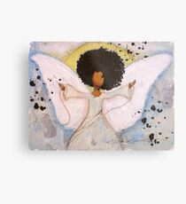Boundless Angel, African American, Latina, Black Angel Metal Print