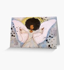 Boundless Angel, African American, Latina, Black Angel Greeting Card