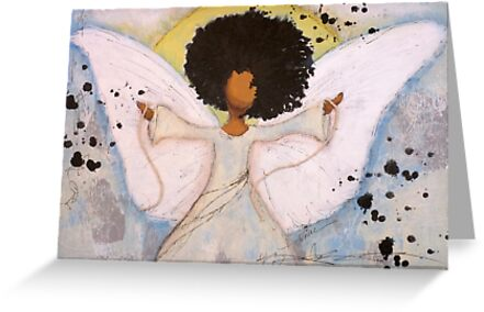 Boundless Angel, African American, Latina, Black Angel by Tiare Smith