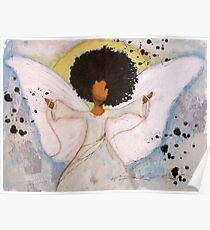 Boundless Angel, African American, Latina, Black Angel Poster