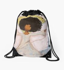 Boundless Angel, African American, Latina, Black Angel Drawstring Bag