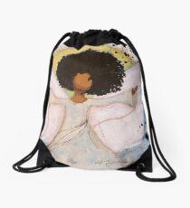 Boundless Angel, African American, Latina, Black Angel Drawstring Bag