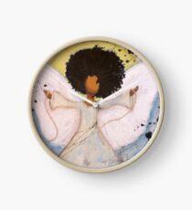 Boundless Angel, African American, Latina, Black Angel Clock