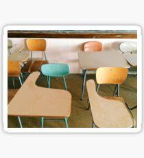 Vintage School Desks Sticker