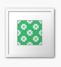 Four-leaved shamrock pattern Framed Print