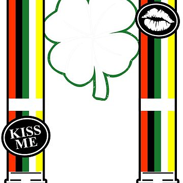 Kiss Me I'm Irish St. Patrick's Day Suspenders by Funnydoneright