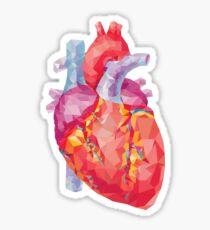 polygonale menschliche Herzillustration Sticker