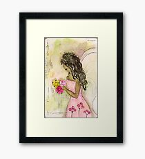Angel of Encouragement, African American, Latina, Angel Framed Print