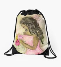 Angel of Encouragement, African American, Latina, Angel Drawstring Bag