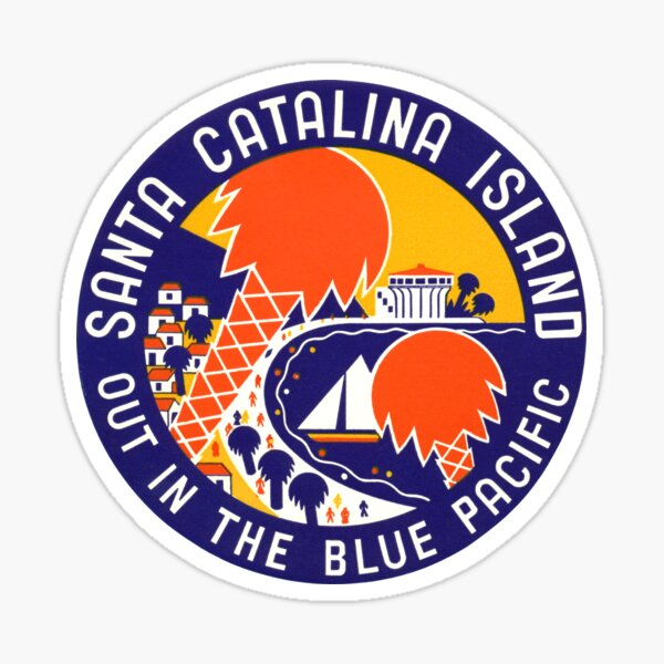 1935 Santa Catalina Island Sticker