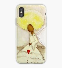 Angel of Love Again, African American, Latina iPhone Case