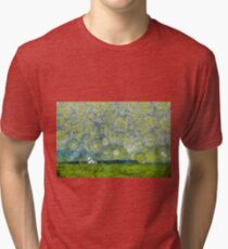 Starry Ballintoy Church Tri-blend T-Shirt