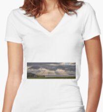 Donegal Sunburst Women's Fitted V-Neck T-Shirt