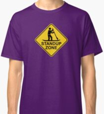 Standup Paddleboarding Zone Road Sign Classic T-Shirt