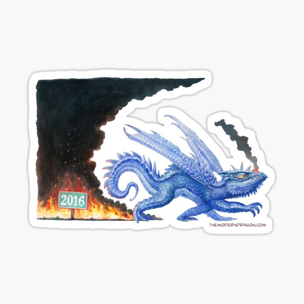 Goodbye 2016 Dragon shirt  Sticker
