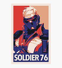 Soldier 76 HOPE Propaganda Photographic Print