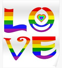 LOVE Letter Rainbow Abstract -Valentine Poster