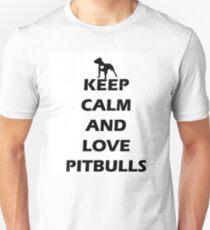 KEEP CALM AND LOVE PITBULLS T-Shirt