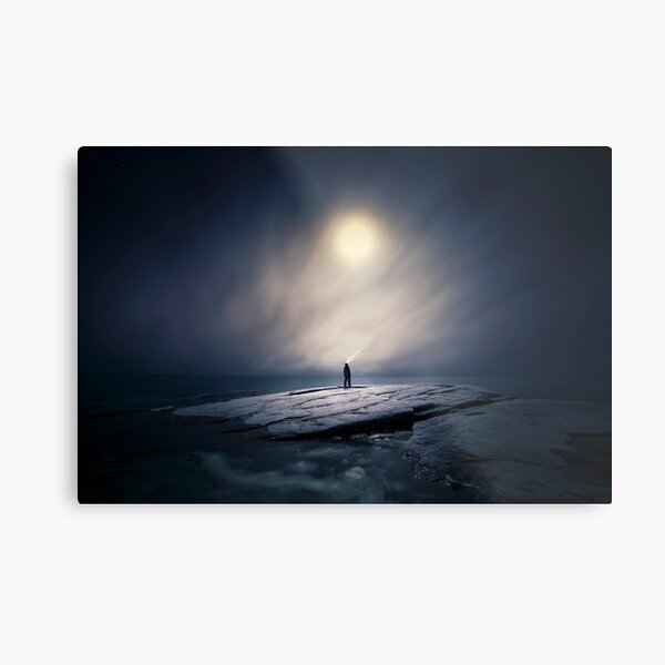I feel like I'm searching for something that I do not know? Metal Print