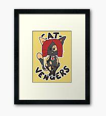 Cat Widow Framed Print