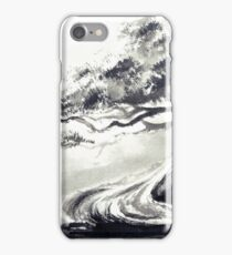 Bonsai tree artwork, japanese home decor iPhone Case/Skin