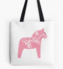 Rosa Dala Horse Swedish Wooden Horse Tote Bag